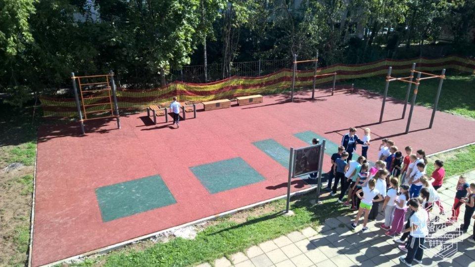 Устройство спортивной площадки воркаута в г. Звенигороде.
