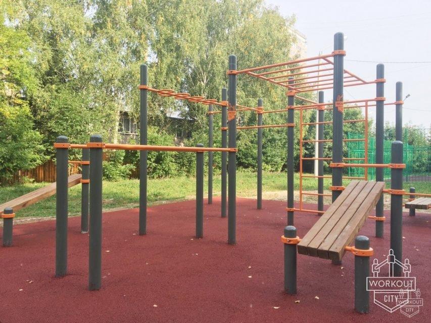 Установка второго комплекса workoutcity professional в Звенигороде.